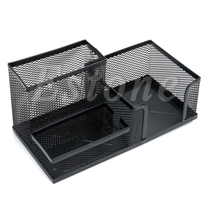 Hộp bút lưới đen nhiều ngăn